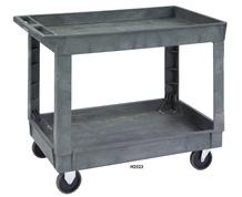2-SHELF DEEP WELL PLASTIC UTILITY CARTS